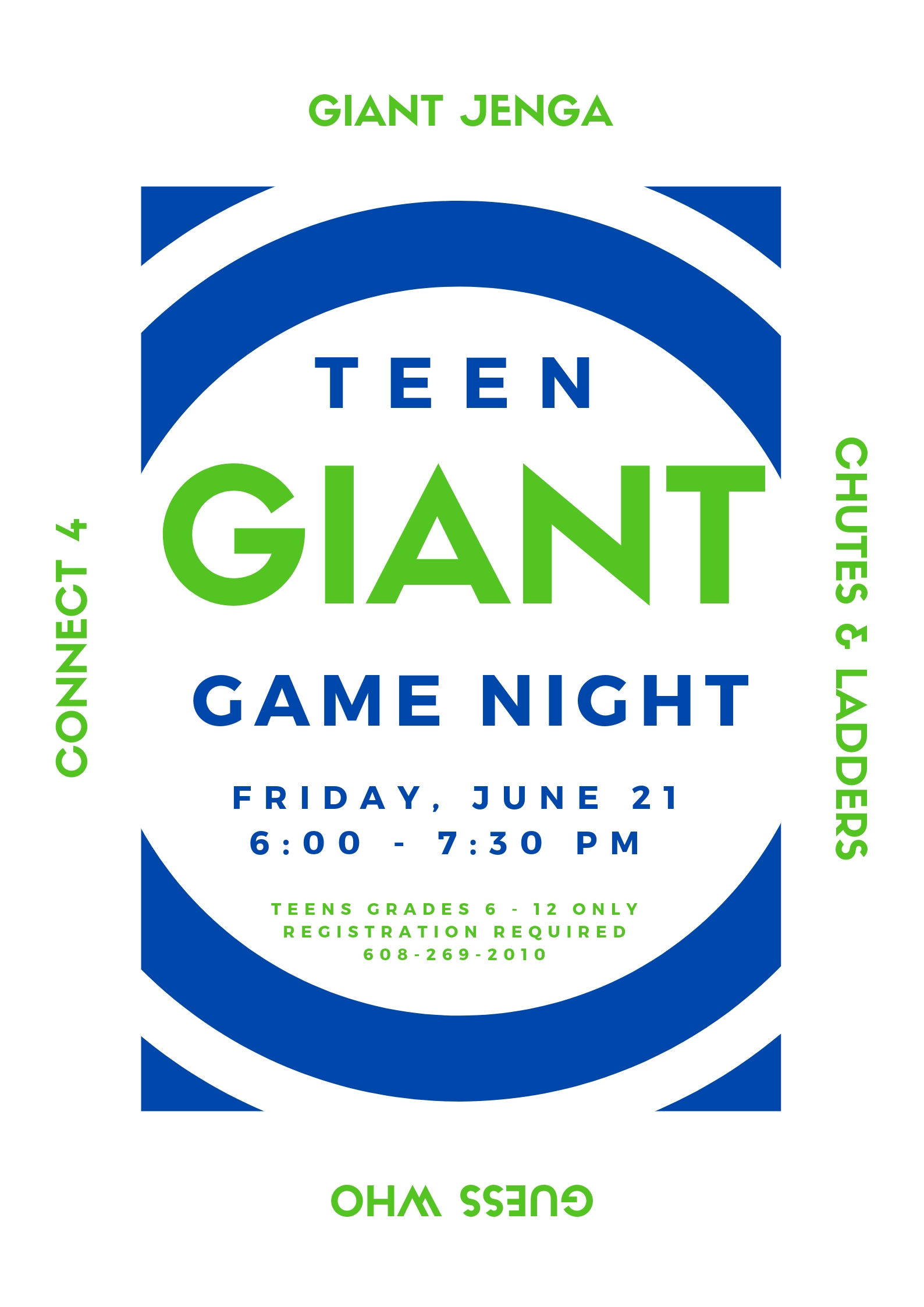 Teen Giant Game Night @ Sparta Free Library