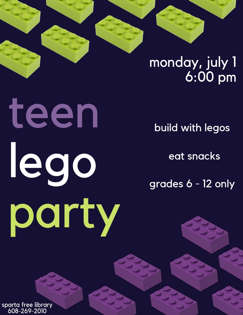 Teen Lego Party @ Sparta Free Library