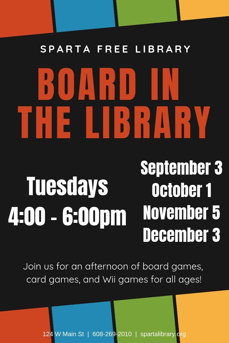 Board in the Library @ Sparta Free Library