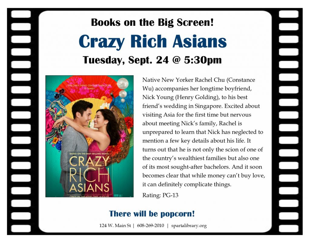 Books on the Big Screen: Crazy Rich Asians