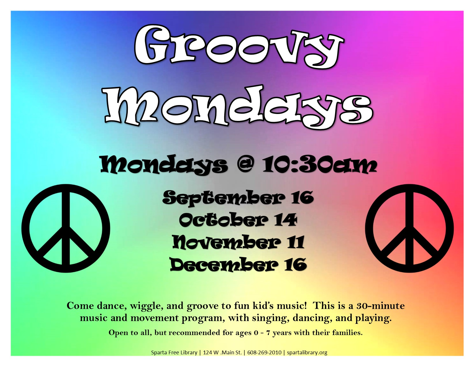 Groovy Mondays @ Sparta Free Library