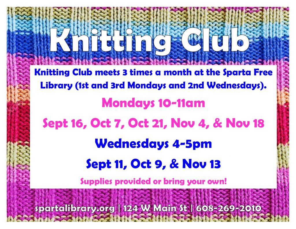 Wednesday Afternoon Knitting Club