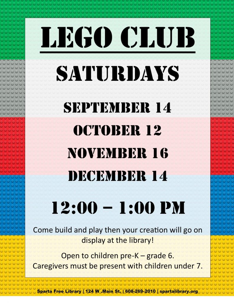Lego Club Poster - Fall 2019 All Dates