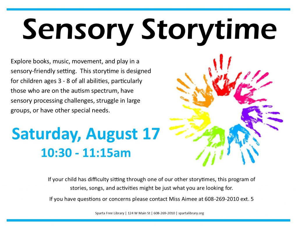 Sensory Storytime Poster - August 2019