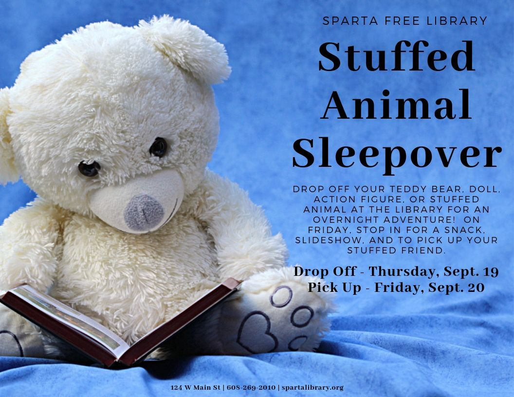 Stuffed Animal Sleepover @ Sparta Free Library