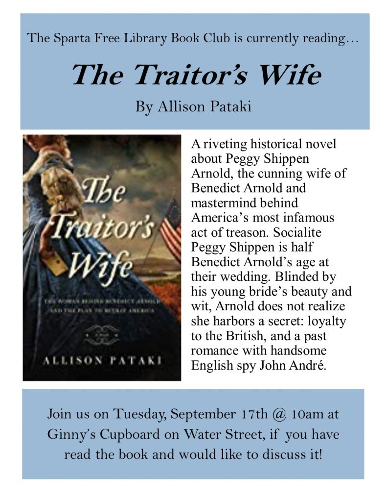 Adult Book Club: The Traitor's Wife
