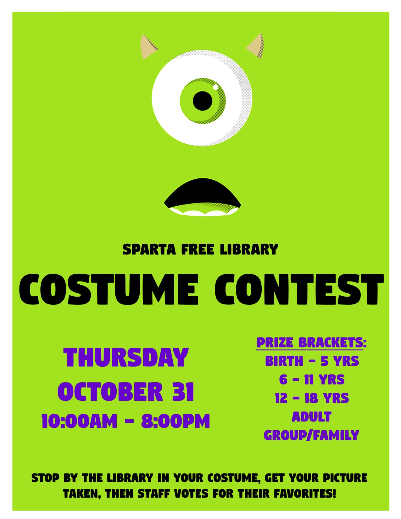 Costume Contest @ Sparta Free Library