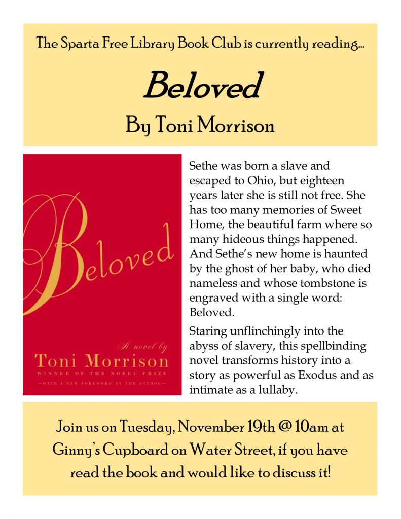 Adult Book Club: Beloved
