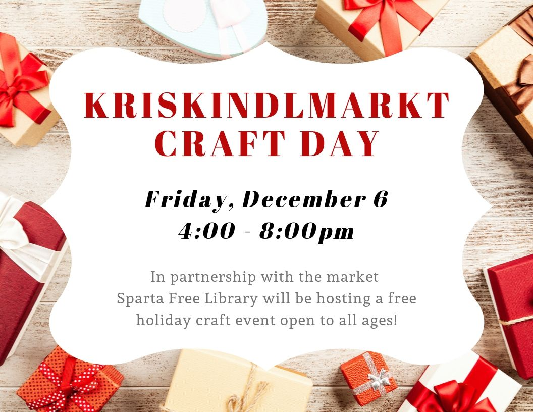 Kriskindlmarkt Craft Day @ Sparta Free Library