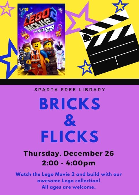 Bricks & Flicks: The Lego Movie 2 @ Sparta Free Library