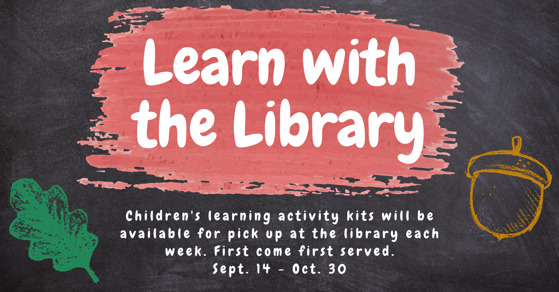 Learn with the Library - Activity Pick Up