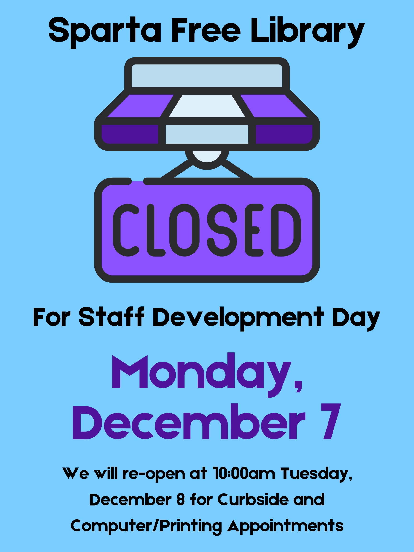 Library CLOSED - Staff Development Day