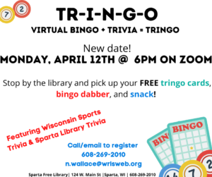 TR-I-N-G-O! @ Sparta Free Library on Zoom