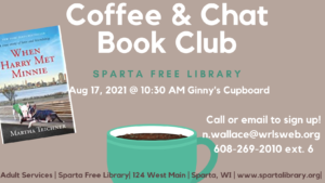 Coffee & Chat Book Club @ Virtual Event via Zoom. Pre-registration & kit pick-up needed.