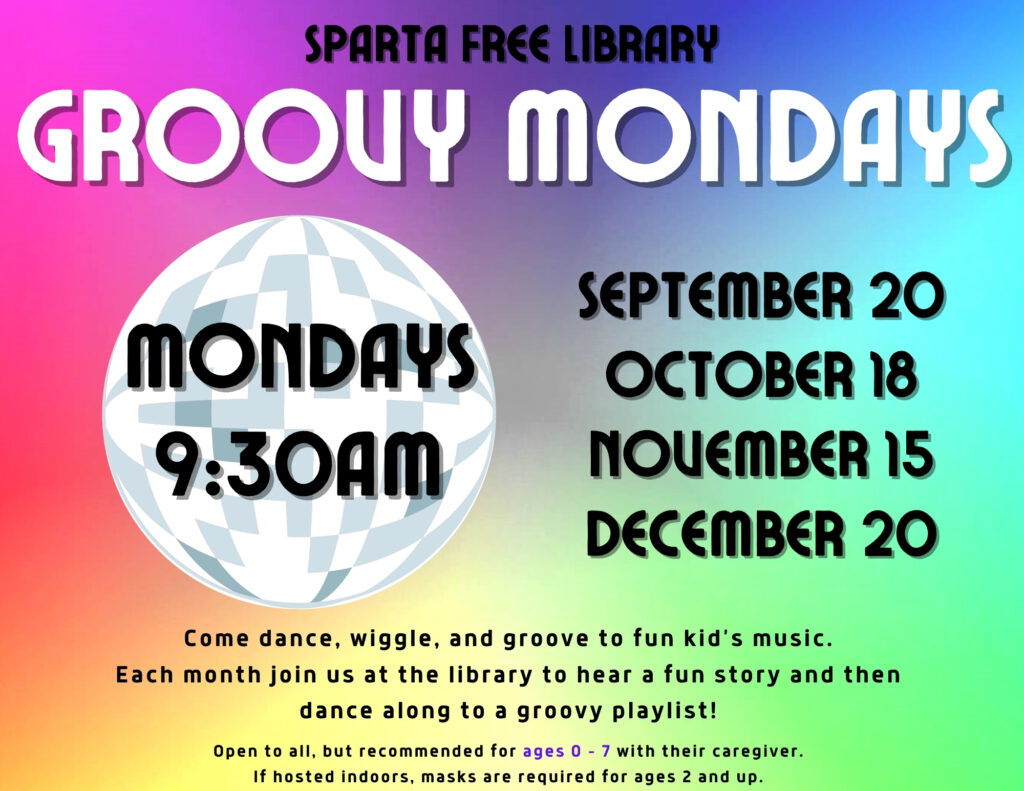Groovy Mondays poster - Fall 2021