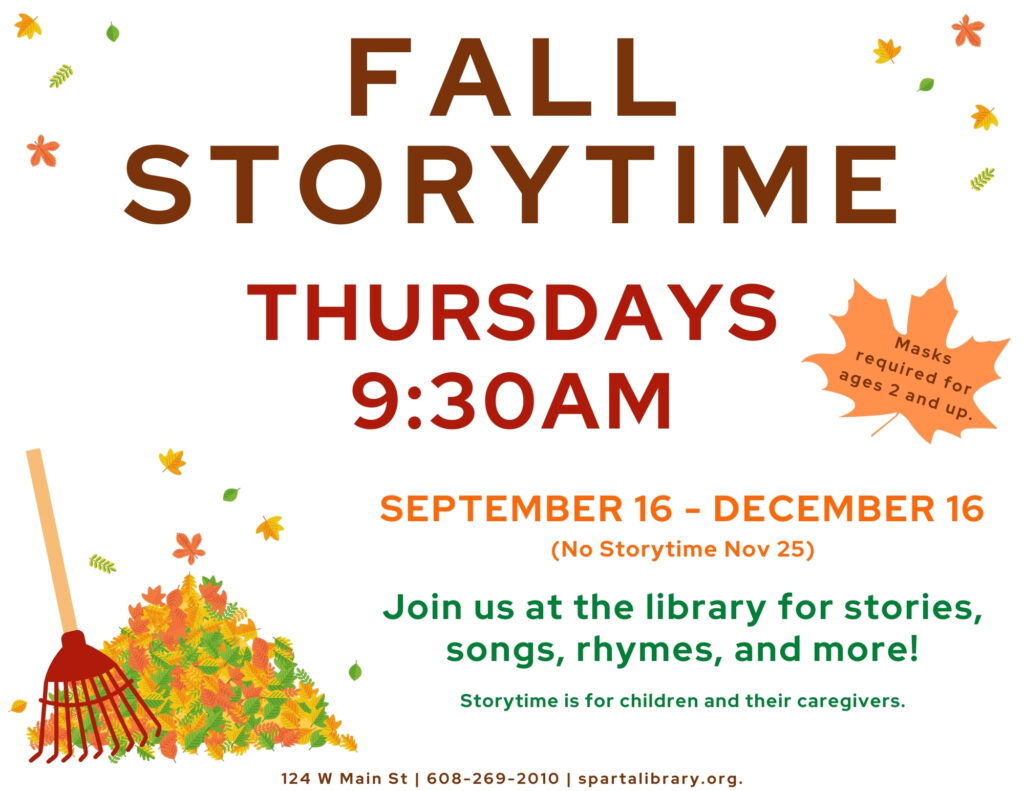 Storytime Poster - Fall 2021