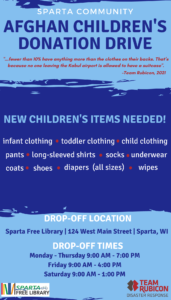 Afghan Children's Donation Drive @ Sparta Free Library